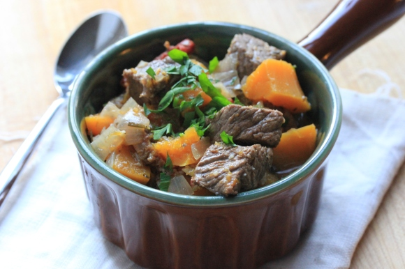 Beef and Butternut Squash Stew - In Her Chucks