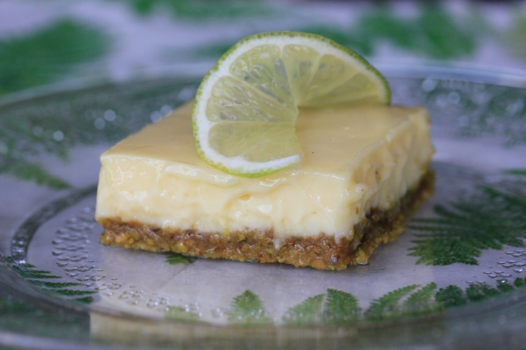 Lime Squares with Pistacio Graham-Cracker Crust - In Her Chucks