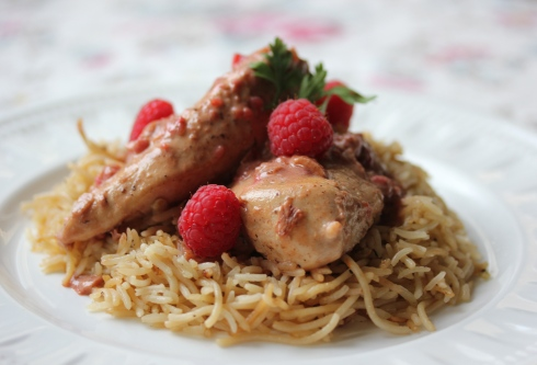 Raspberry Chicken with Homemade Rice Pilaf - In Her Chucks
