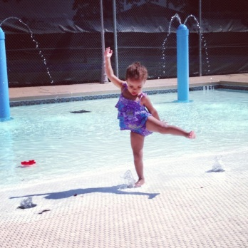 Harper at the Pool